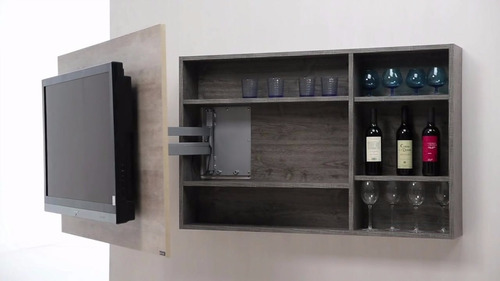 Mueble modular colgante para tv 55 vinera biblioteca bs - Muebles para la television modernos ...