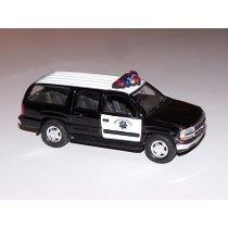 Miniatura Chevrolet Suburban 2001 Patrol Police Welly 1:38
