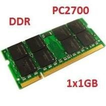 Memória 1x 1gb Ddr Pc2700 333mhz Kingston P/ Notebook Nf-e