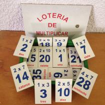 Juego Didáctico De Madera Lotería De Multiplicar