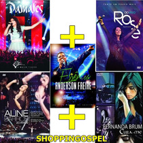 Kit Dvds Anderson Freire + Damares + Rose + Aline + Fernanda