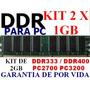 Memoria Ddr 2gb Pc2700 333 / Pc3200 400 (kit 2 X 1gb)