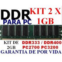 Memoria Ddr 2gb Pc2700 333 / Pc3200 400 (kit 2 X 1gb) Dvn