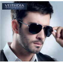 Óculos De Sol Aviador Polarizado Uv400 Veithdia Original