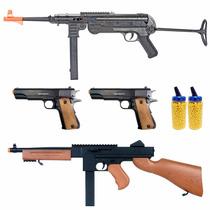 Rifle Bbtac Arma De Airsoft Del Paquete,4 Armas De Aire