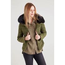 Jaqueta Feminino Com Pelo - Fur Neck Jacket