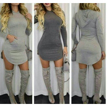Vestidos Moda 2016 Tipo Sweter Con Y Sin Capucha