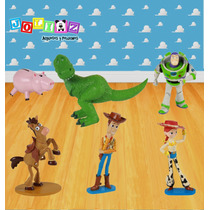 Set Toy Story Disney Woody Buzz Rex Jessie Jam Y Tiro