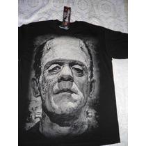 Playera Frankenstein Y Monstruos Clasicos Del Cine Y Tv
