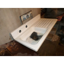 Fregadero De Peltre Usado Antiguo 105x55cm