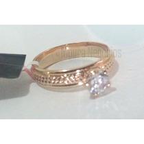 *anel Rommanel Aparador De Aliança Folh Ouro Aro 18 Dourado