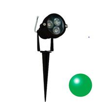 16 Espetos Led De Jardim Luz Verde Iluminação Leds Refletor