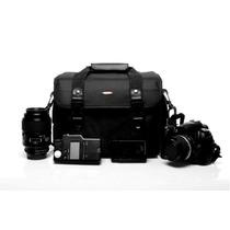 Bolsa Fotografia Câmera Flash Lente Sony Nikon Canon Olimpic
