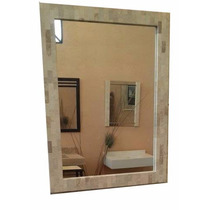 Espejo Marco De Marmol Travertino Venecitas