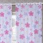 Cortina Duplex Voil Infantil 220x270cm Flor Bordart 6574928