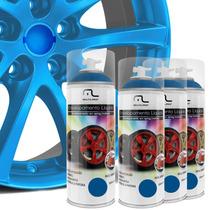 Kit Spray Envelopamento Líquido Rodas Azul