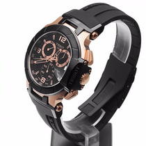 Relógio T-race Preto Tissot Gp + Preto Rosê Funcional 12 X