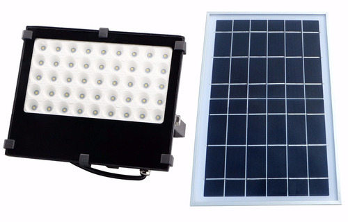 Reflector solar 45 leds de jardin con panel solar for Alumbrado solar jardin