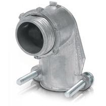 Conector Curvo Tubo Flexible Metalico 3/4 Pulg Voltech 47344