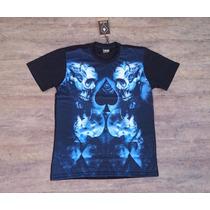 Camiseta Mcd Blue Skull Style Especial Regular