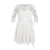 Vestido De Nena De Encaje Mangas 3/4, Brishka N-0048