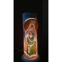 Luminária Abajur Em Pvc Com Tema Religioso (1 Unidade)