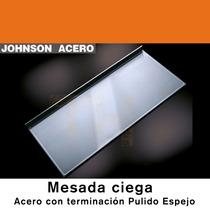 Mesada Johnson Acero Inoxidable Ciega Lisa 100x61x3 Zocalo