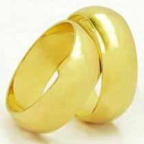 Aliança Casamento Ouro 18k 750 10 Gramas 6mm Frete Gratis