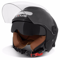 Capacete Aberto Zeus Helmets 202fb Black Preto Brilhante