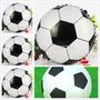 Globo Metalizado De Balon De Futbol - Helio-cumpleaños