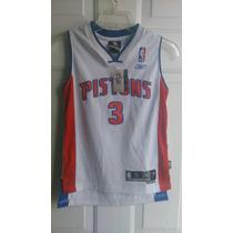 Nba Jersey Reebok Det Pistons Ben Wallace Talla S Juvenil