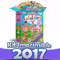 Kit Imprimible Lalaloopsy Para Decorar Fiesta 100% Editable