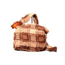Cartera De Tela Bellagio Bags Color Caqui Con Marron