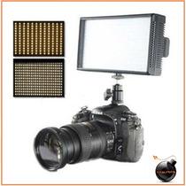 Lampara Bicolor Profesional 312 Leds Dslr Sony Nikon Canon