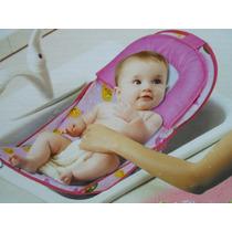 Cadeira Para Banheira Assento Suporte Banho Bebê Rosa Menina