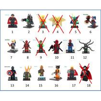 Lego Vingadores Marvel Dc Super Homem Ferro Deadpool Monte