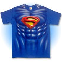 Playera Superman, Musculos, Disfraz, Comic, Fiesta, Regalo