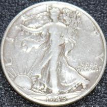 Moneda Plata Cumpleaños 1945 Libertad 50c Medio $ Ley 90 Dey
