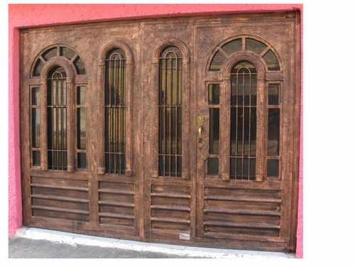 Puerta arcolumna de herreria rustica fina precio m2 for Puerta y media de madera