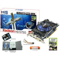 Placa Aceleradora Vídeo His Ati Radeon Hd5750 1gb Na Caixa!