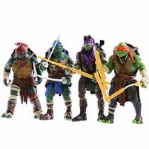 04 Bonecos Tartarugas Ninjas Mutante Filme Pronta Entrega