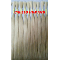 Cabelo Humano Loiro Liso P/mega Hair 70 A 75 Cm 100 Gramas