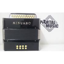 Acordeon Minuano Botao 8baixos/21 Diatonico 2º Voz - 2456