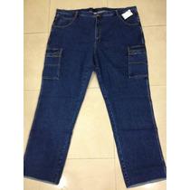 Jeans Cargo Para Hombre Tallas Super Extras Hasta La 64