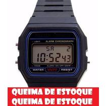 Lote Atacado Revenda 10 Relógios Retrô Vintage Preto