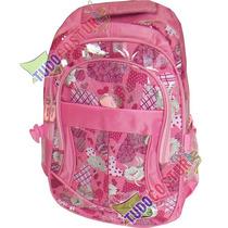 Mochila Escolar Infantil Feminina Menina Rosa 3 Divisorias