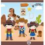 Kit Imprimible Vaqueros Cowboy Imagenes Clipart