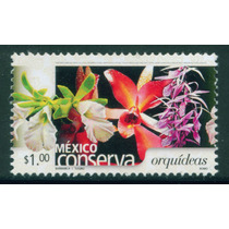 Mexico $1 Orquideas Romo Serie Conserva 2005 Nueva Impecabl