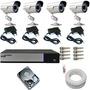 Sistema De Vigilância Kit 4 Cam Infra 30m Dvr Luxvision Ahd