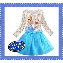 Hermosos Vestidos De Frozen Vestir Navidad Niñas